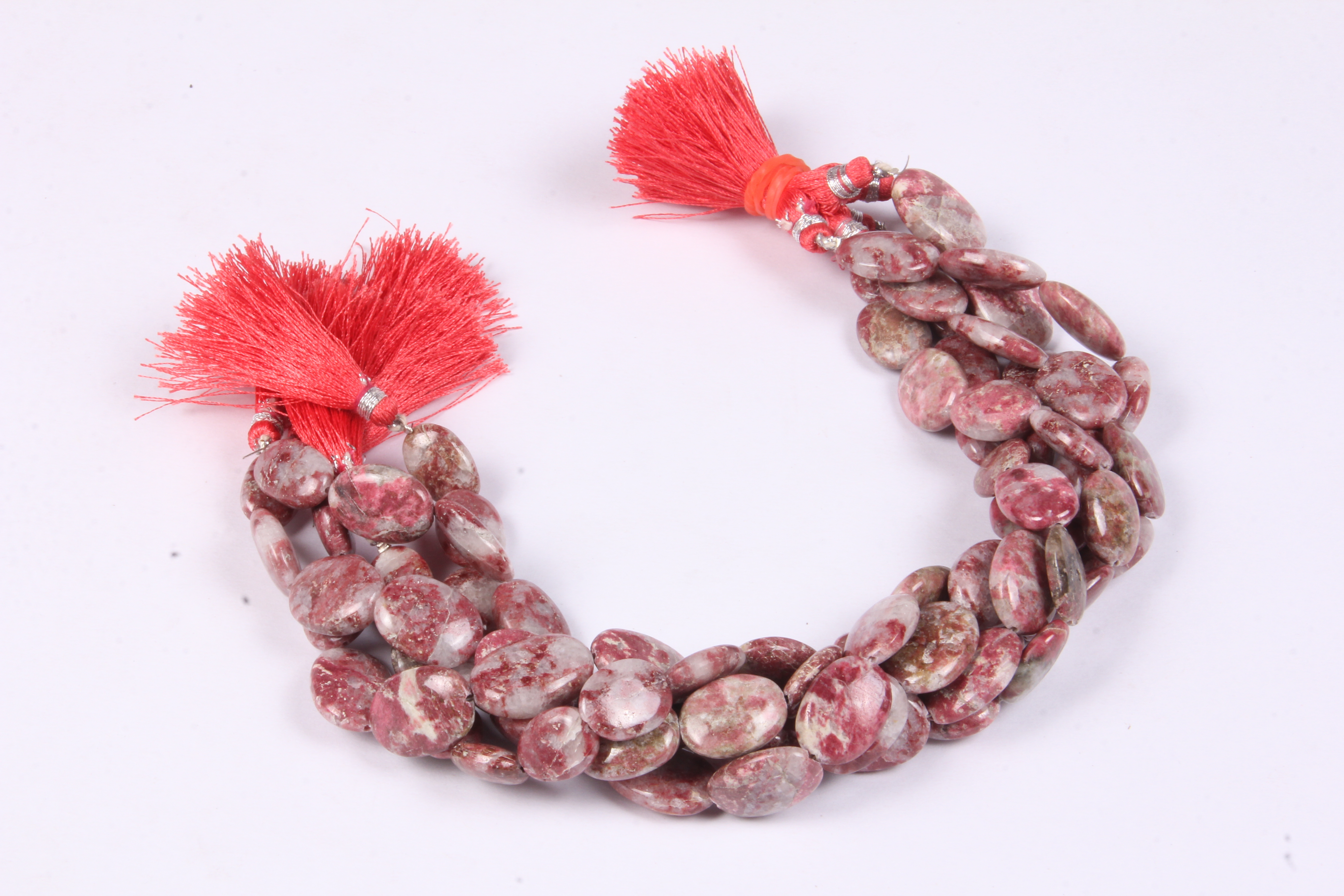 Thulite Oval Beads