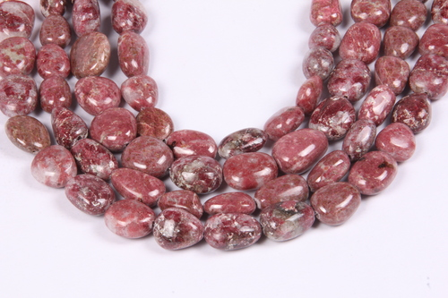 Natural Thulite Nuggets Beads