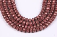 Natural Thulite Roundel Beads