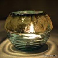 Silver Polish Glass Made Candle Votive