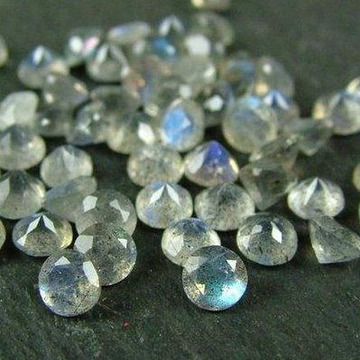 2mm Natural Labradorite Faceted Round Gemstone