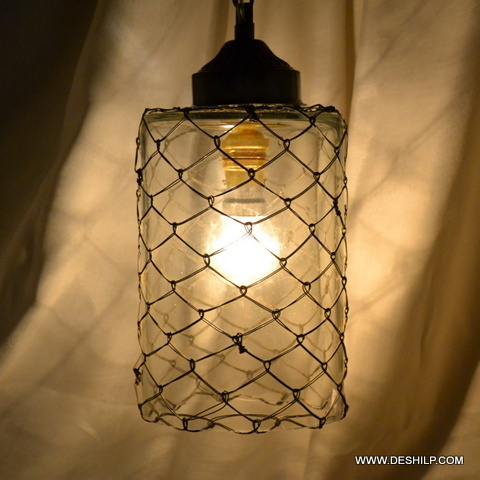 Clear Glass Antique Glass Wall Hanging