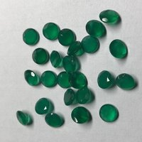 2mm Natural Green Onyx Faceted Round Gemstone