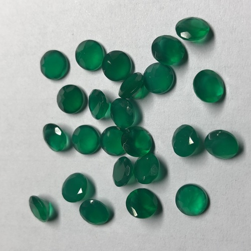 2.25mm Natural Green Onyx Faceted Round Gemstone