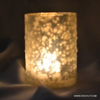 Candle Holder Home Decor Silver Finish