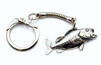 Largemouth Brass Fish Keyring keychain