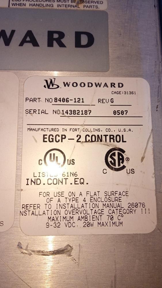 WOODWARD HMI 8406-121 G