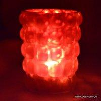 Red Glass Decor Home Purpose Candle Votive