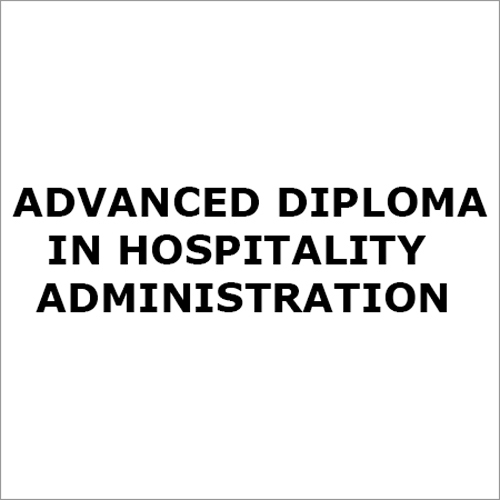 Hospitality Administration Diploma Course Service