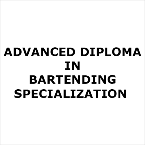 Bartending Advanced Diploma Course Service
