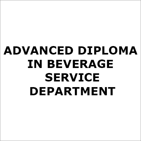 Advanced Beverage Diploma Course Service