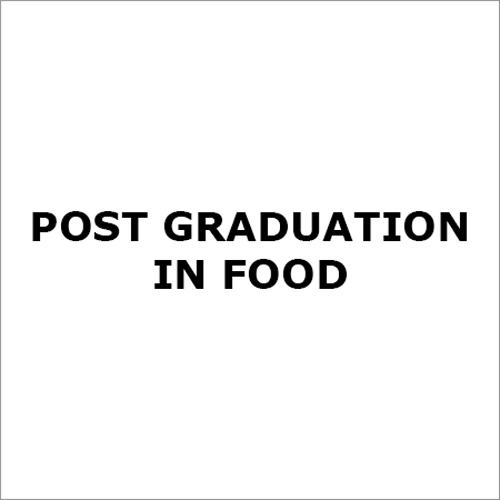 Food Course Post Graduation services