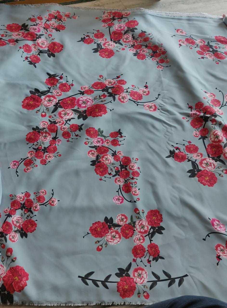 Modal Satin Digital Printed Fabric