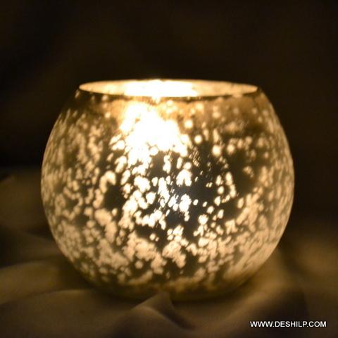 Bowl Shape Glass Candle Holder