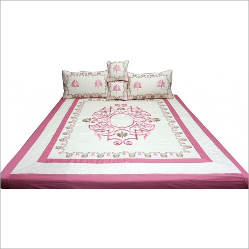 Designer Cotton Embroidered Bedsheet