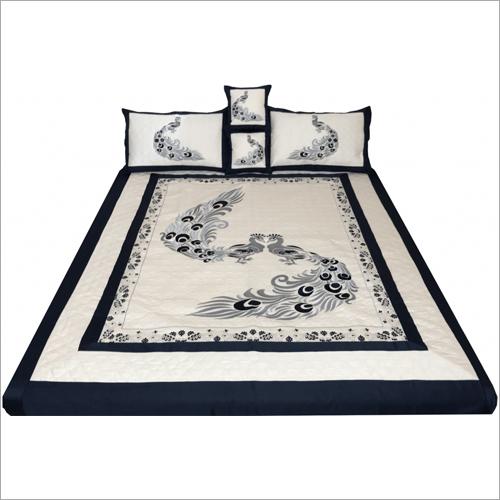 Designer Printed Embroidered Bedsheet
