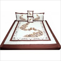 Double Bed Embroidered Bedsheet