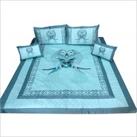 Fancy Cotton Embroidered Bedsheet