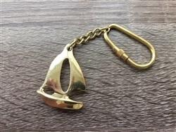 Brass Sail Boat Keychain