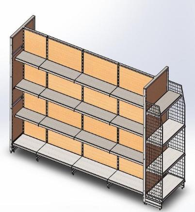 Timber shelving PPH35-18W