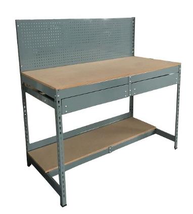 Steel panel shelving