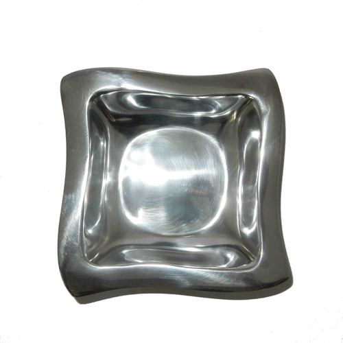 Aluminium Fruit Bowl Curved Square