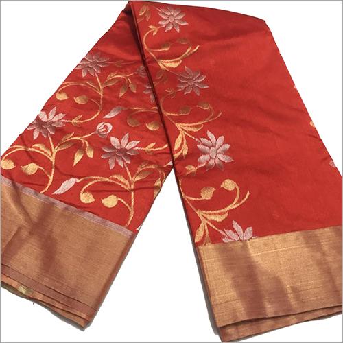 Ladies Designer Chanderi Saree