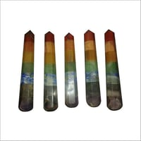 5 Inch Chakra Faceted Wands