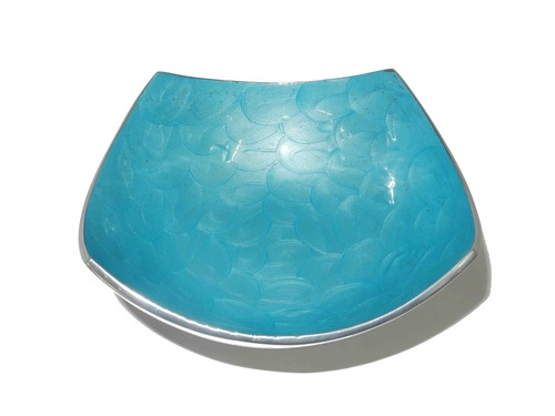Aluminium Fruit Bowl Colored Square