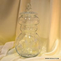 Container & Jar Glass Made With Glass Lid