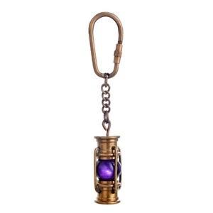 Brass Fishing Lamp Keychain Keyring