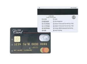 HiCo Black 3 Track Magstripe IC Contact Magnetic PVC Card SLE4428 SLE5528