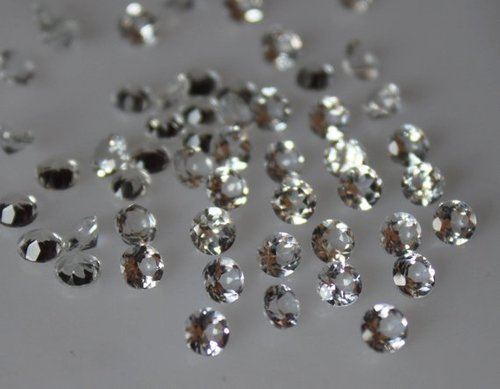 2.5mm Natural White Topaz Faceted Round Gemstone