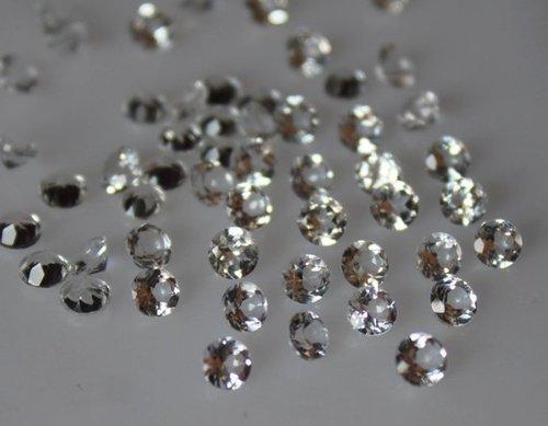 2.5mm Natural White Topaz Faceted Round Gemstone