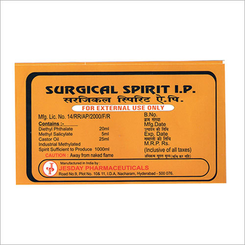Surgical Spirit IP - JESDAY PHARMACEUTICALS, Plot No  10/11