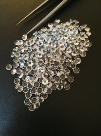 5mm Natural White Topaz Faceted Round Gemstone