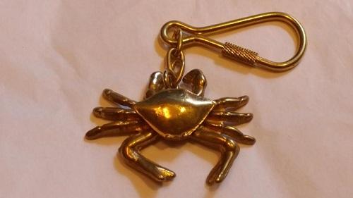 Brass Crab keychain