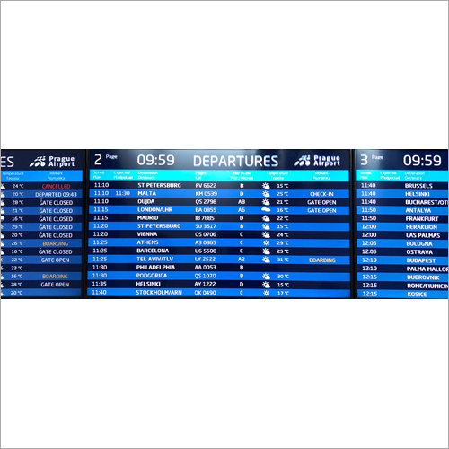 Flight Information System LED Display