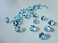 2.5mm Natural Sky Blue Topaz Faceted Round Gemstone
