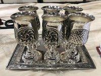Silver Art Antique Glass Set