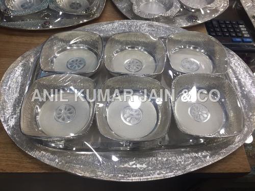 Silver Antique Bowl Set