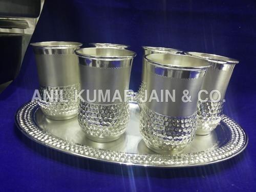 Silver Antique Glass Set