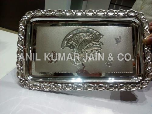 Antique Art Silver Tray