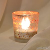 Glass T-Light Candle Holder