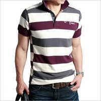 Men Check T-Shirt