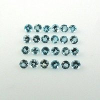 4mm Natural Sky Blue Topaz Faceted Round Gemstone