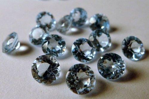 6mm Natural Sky Blue Topaz Faceted Round Gemstone