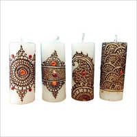 Mehndi Pillar Candle