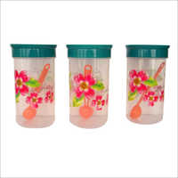 Plastic Printed Storage Container Set