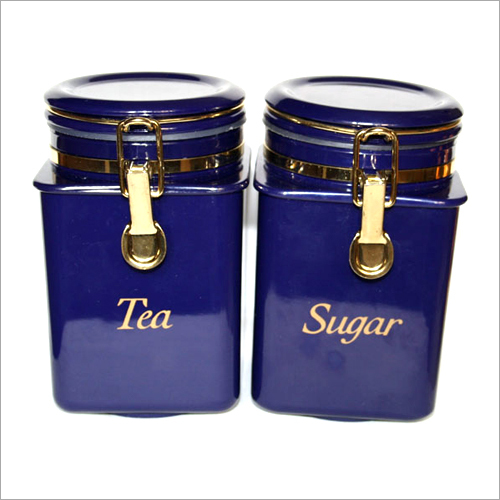 Steel Tea And Sugar Container Set